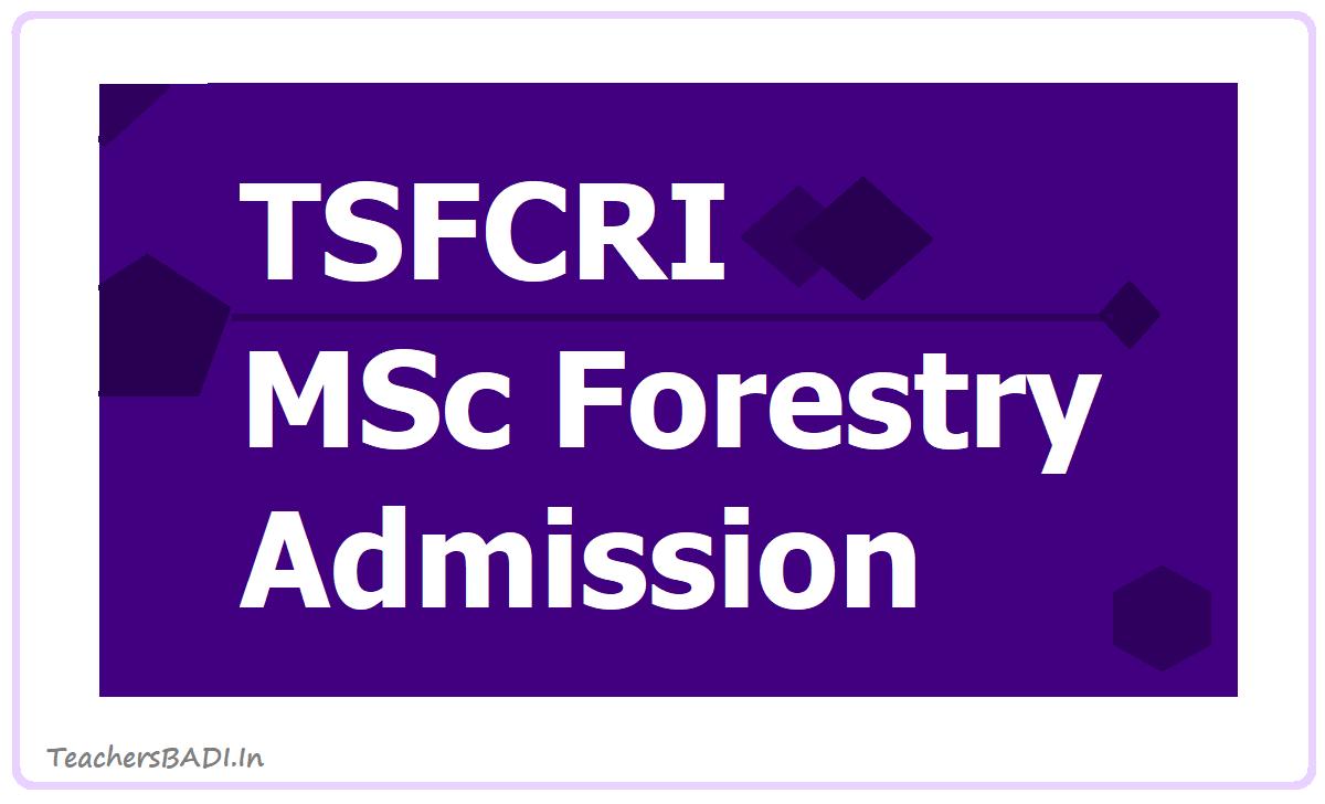 TSFCRI M.Sc. Forestry Admission 2020