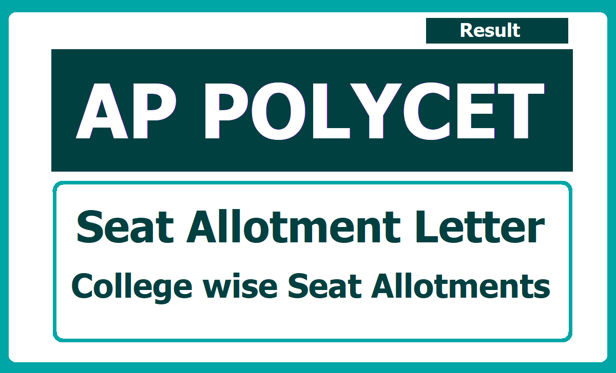 AP POLYCET Seat Allotment Letter 2020 (Call letter)