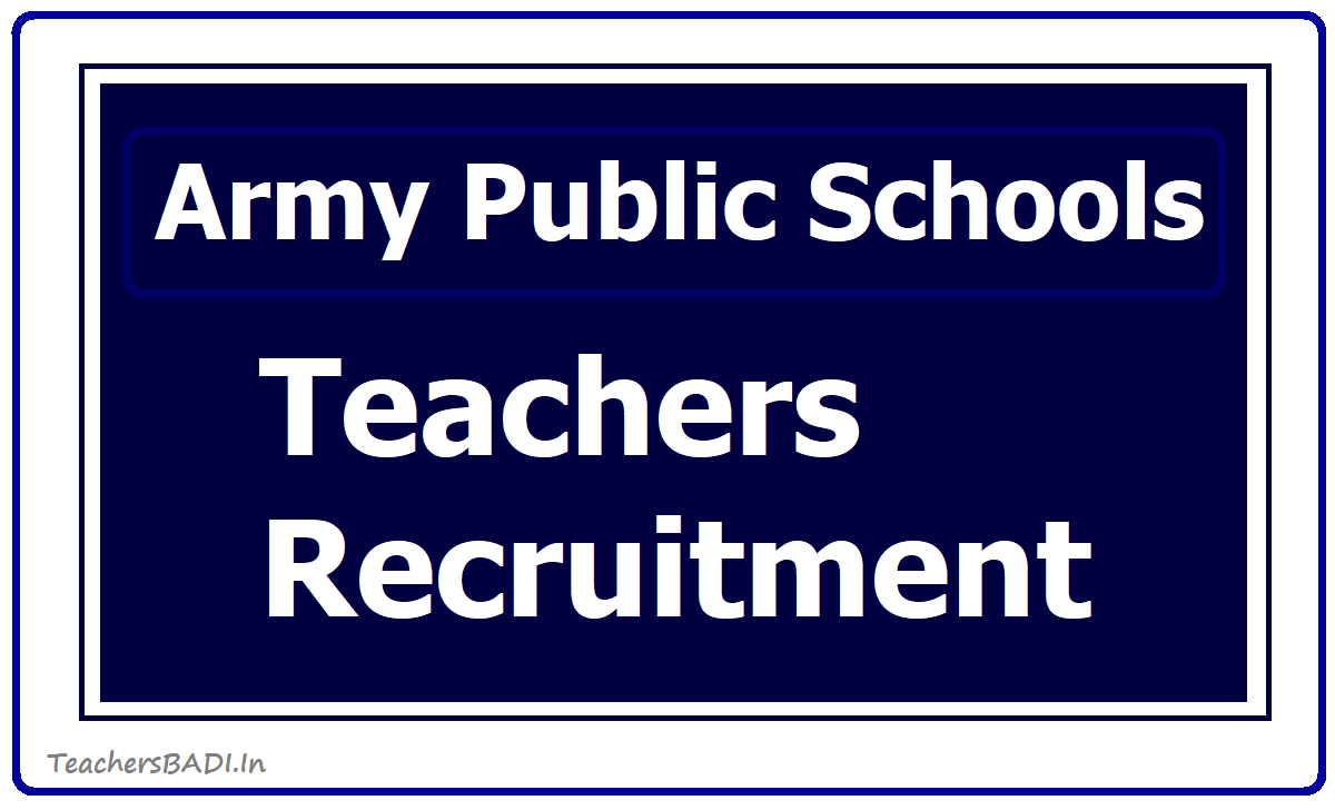 APS Army Public Schools Teacher Posts Recruitment  2020 by AWES