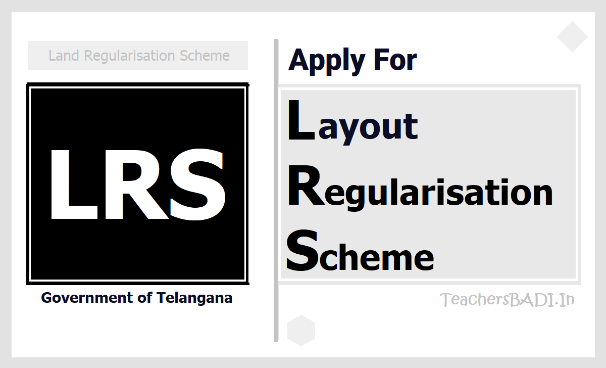 Apply for LRS 2020 at lrs.telangana.gov.in and more details here