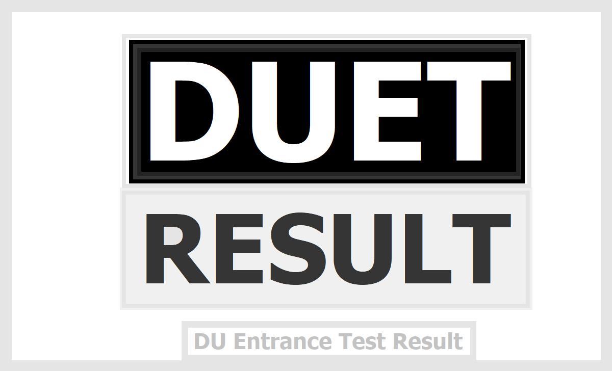 DUET Result 2020, Check DU Entrance Test Result for UG Courses