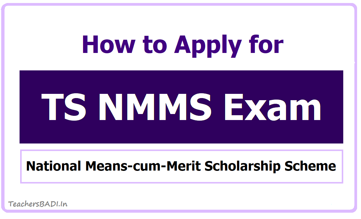 How To Apply for TS NMMS Exam 2020 Scholarships