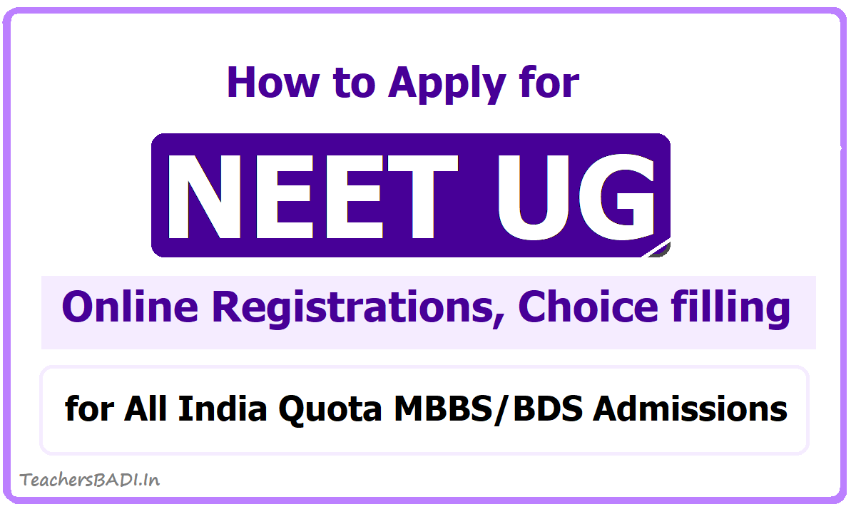How to Apply for NEET UG Counselling 2020 for Online Registrations, Choice filling