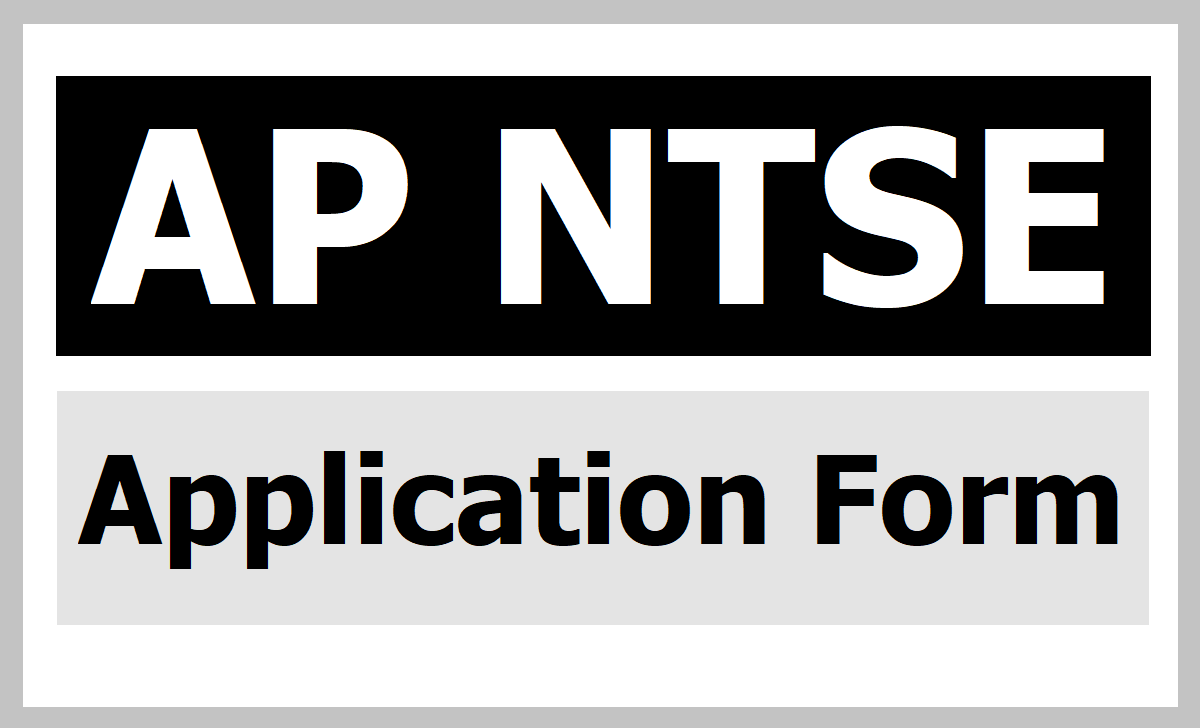 How to Fill AP NTSE Online Application Form 2020