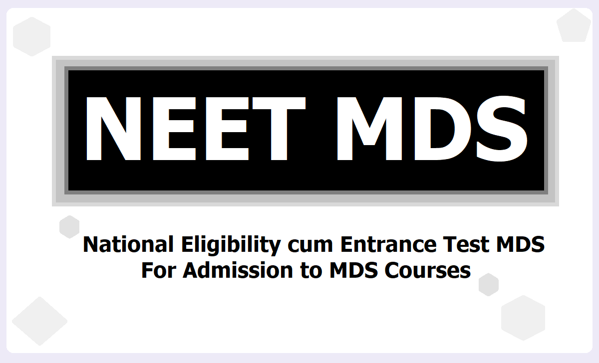 NEET MDS 2021, Apply Online at nbe.edu.in