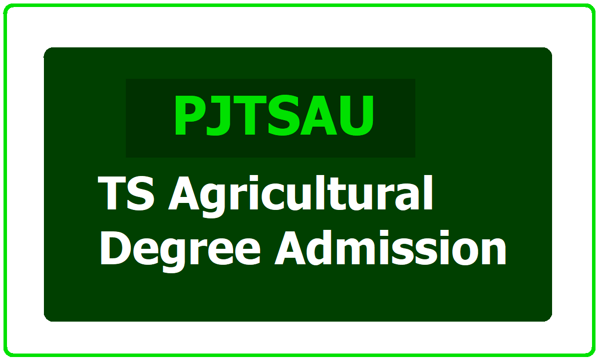 TS Agricultural Degree Admission 2020