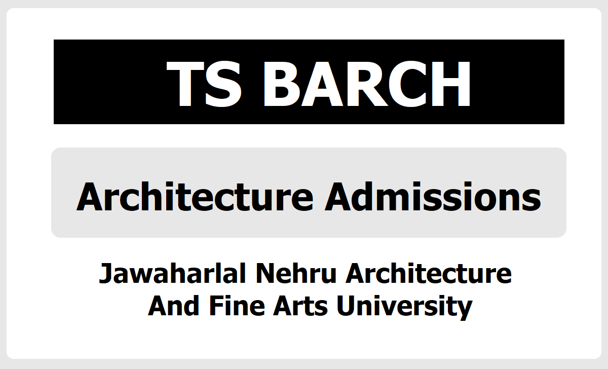 TS BARCH 2020 Admissions (JNAFAU B Arch Architecture Admissions)