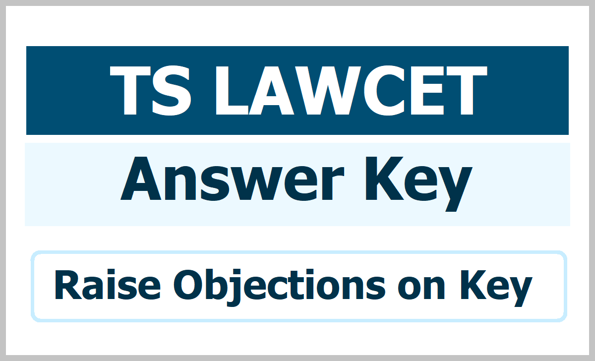 TS LAWCET PGLAWCET Answer Key 2020 download