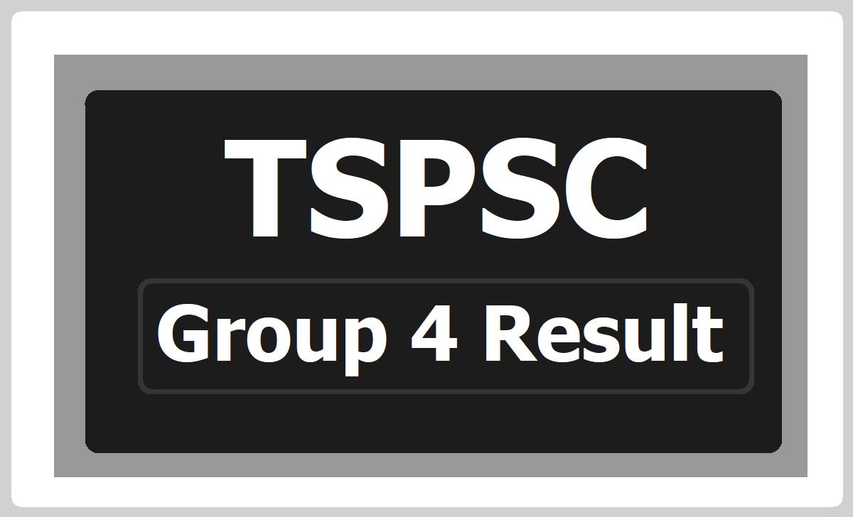 TSPSC Group 4 Merit list Result 2020, Selection list Download from tspsc.gov.in