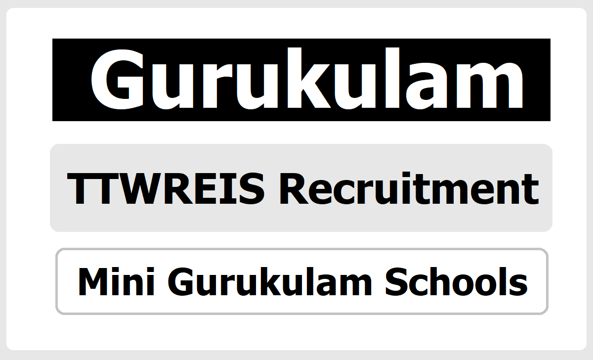 TTWREIS HM Posts Recruitment 2020 in TS Mini Gurukulam Schools