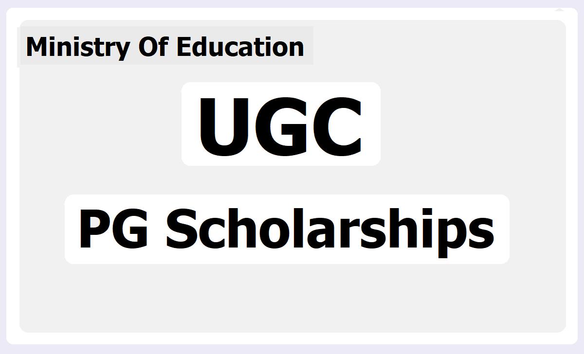 UGC PG Scholarships