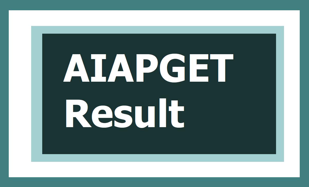 AIAPGET Result 2020