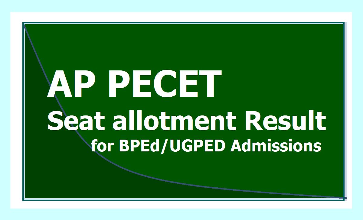 AP PECET Seat allotment Result 2021