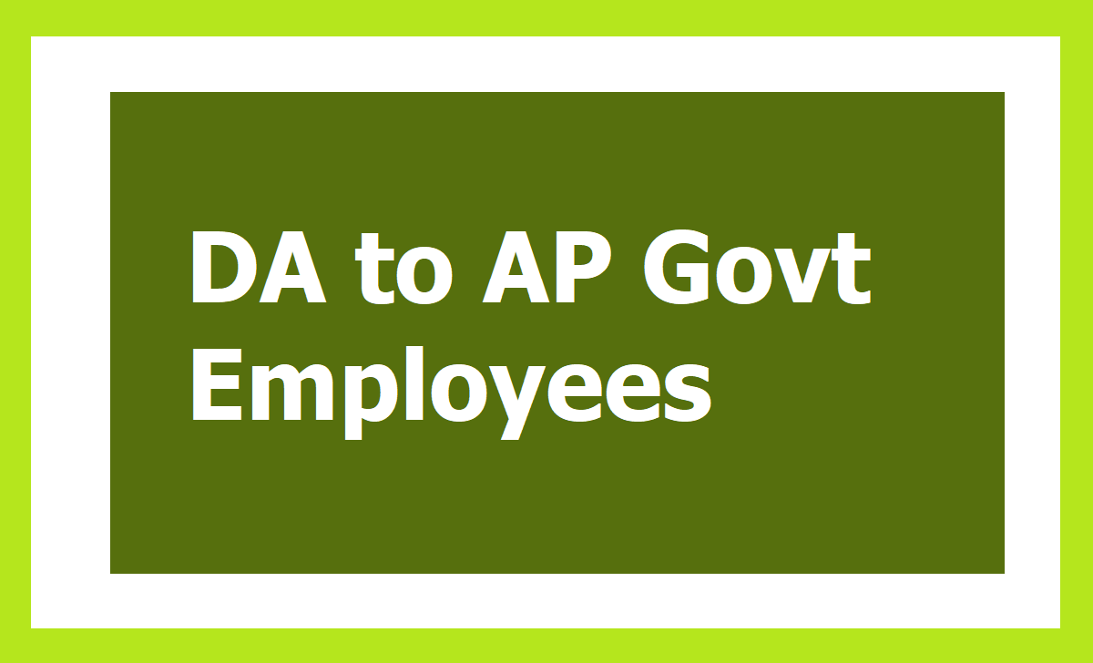 DA to AP Govt Employees