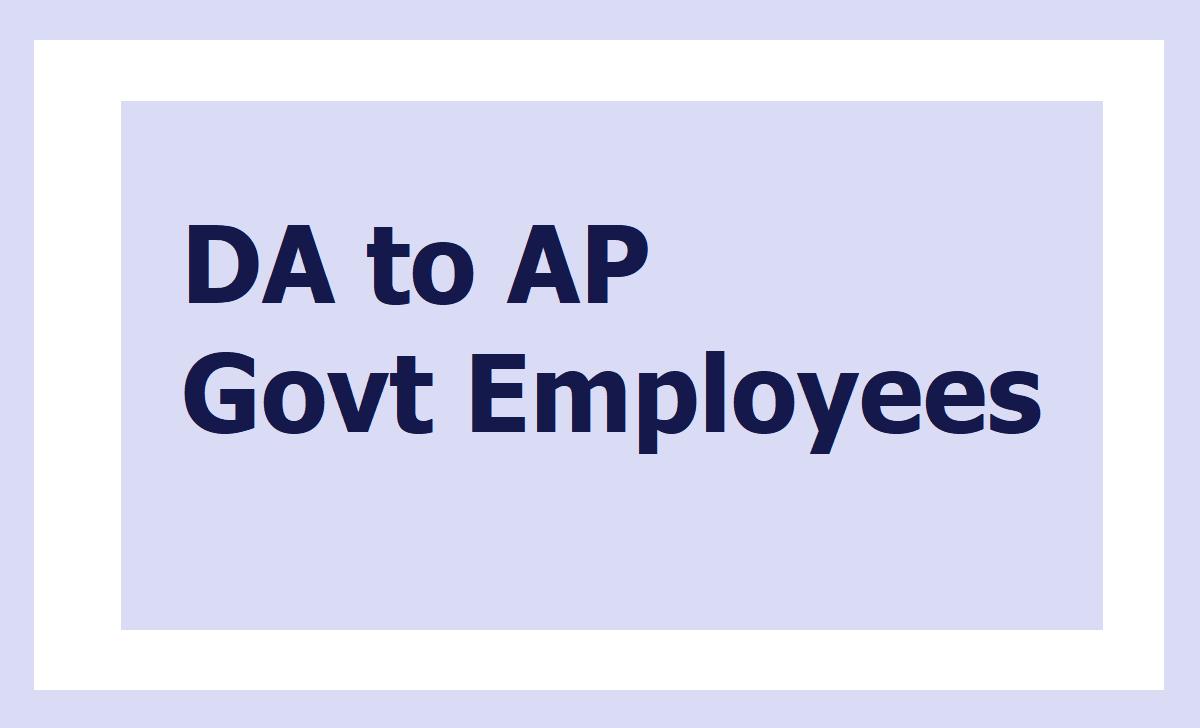 DA to AP Govt Employees