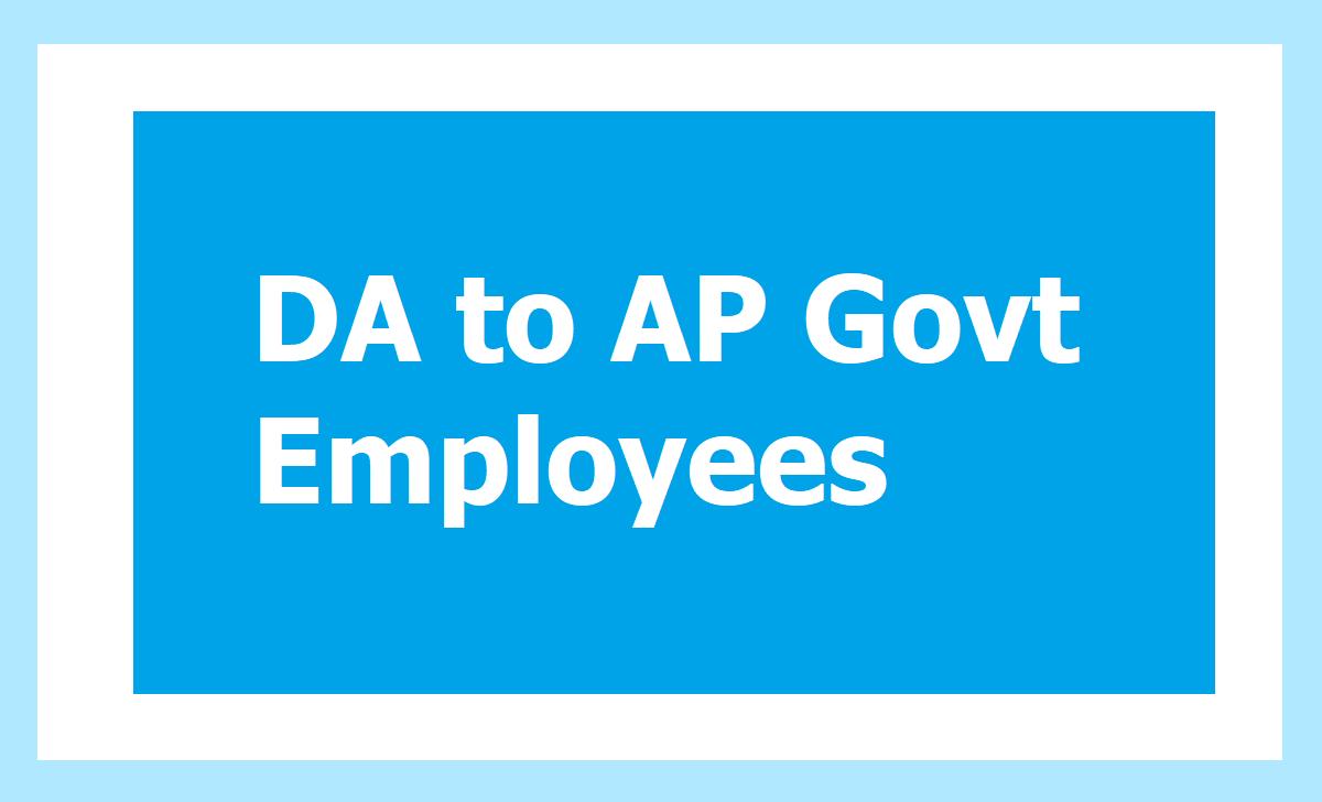 GO.140 DA to AP Govt Employees