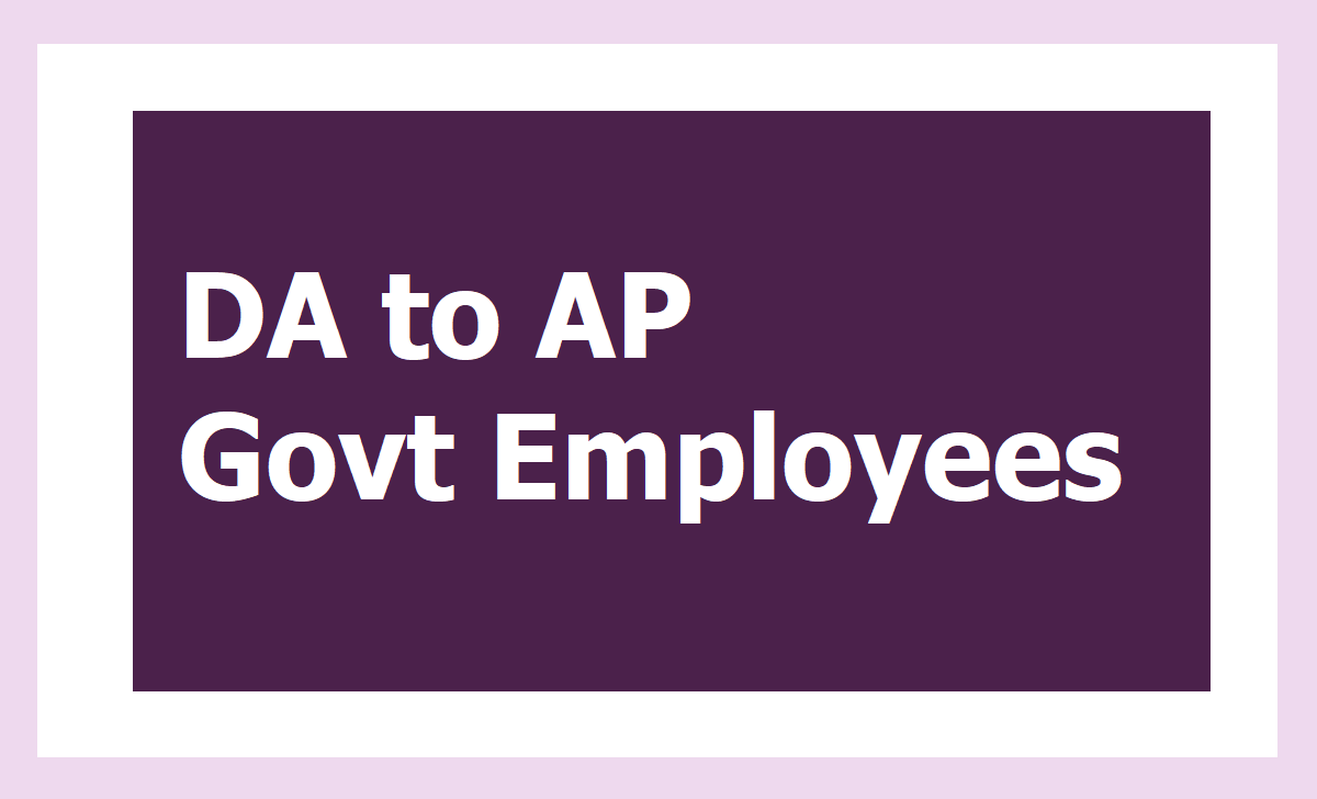 GO.16 DA to AP Govt Employees