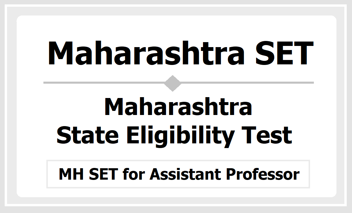 Maharashtra SET 2020
