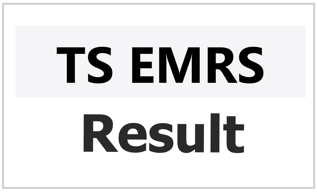 TS EMRS CET Result 2021