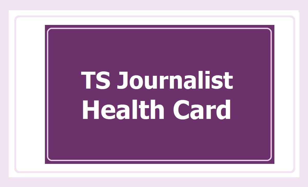 TS Journalist Health Card