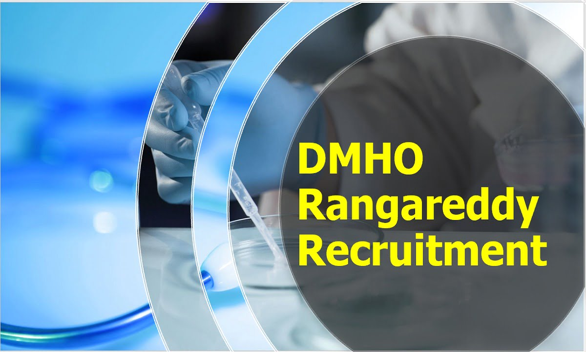 DMHO Rangareddy Recruitment 2020 for Staff Nurse Posts
