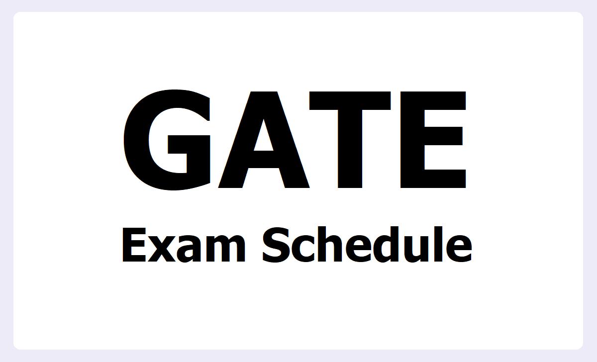 GATE 2021 Exam Schedule
