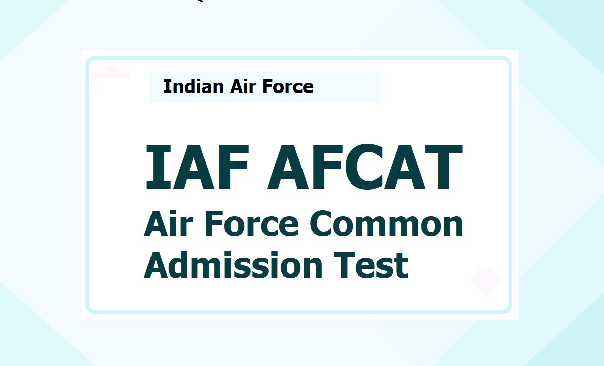 IAF AFCAT 2021, Apply online for Air Force Common Admission Test