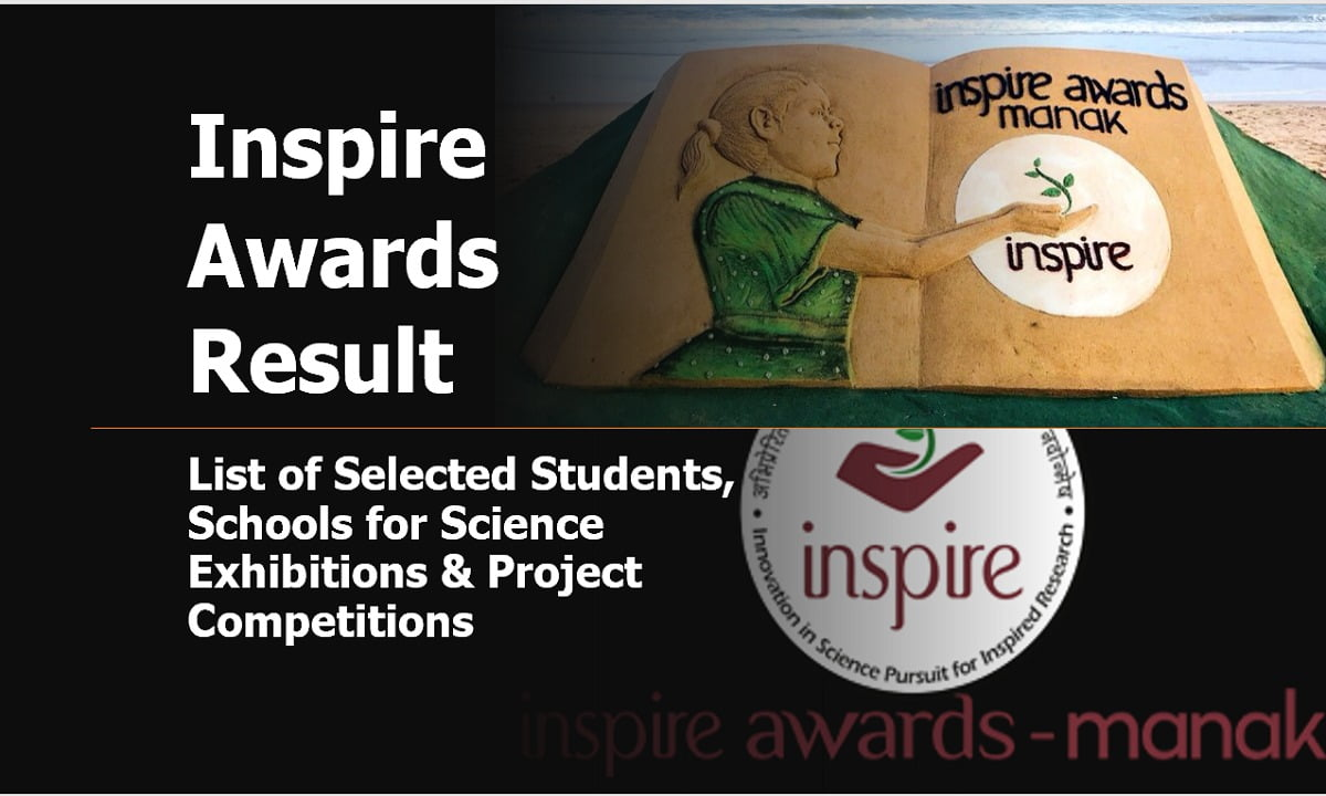 Inspire Awards Result 2021: List of Selected Students, Schools for Science Exhibitions & Project Competitions