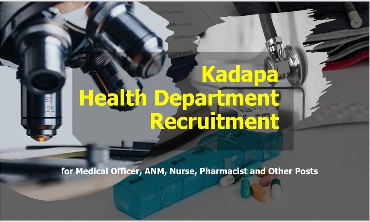 Kadapa Health Department Recruitment