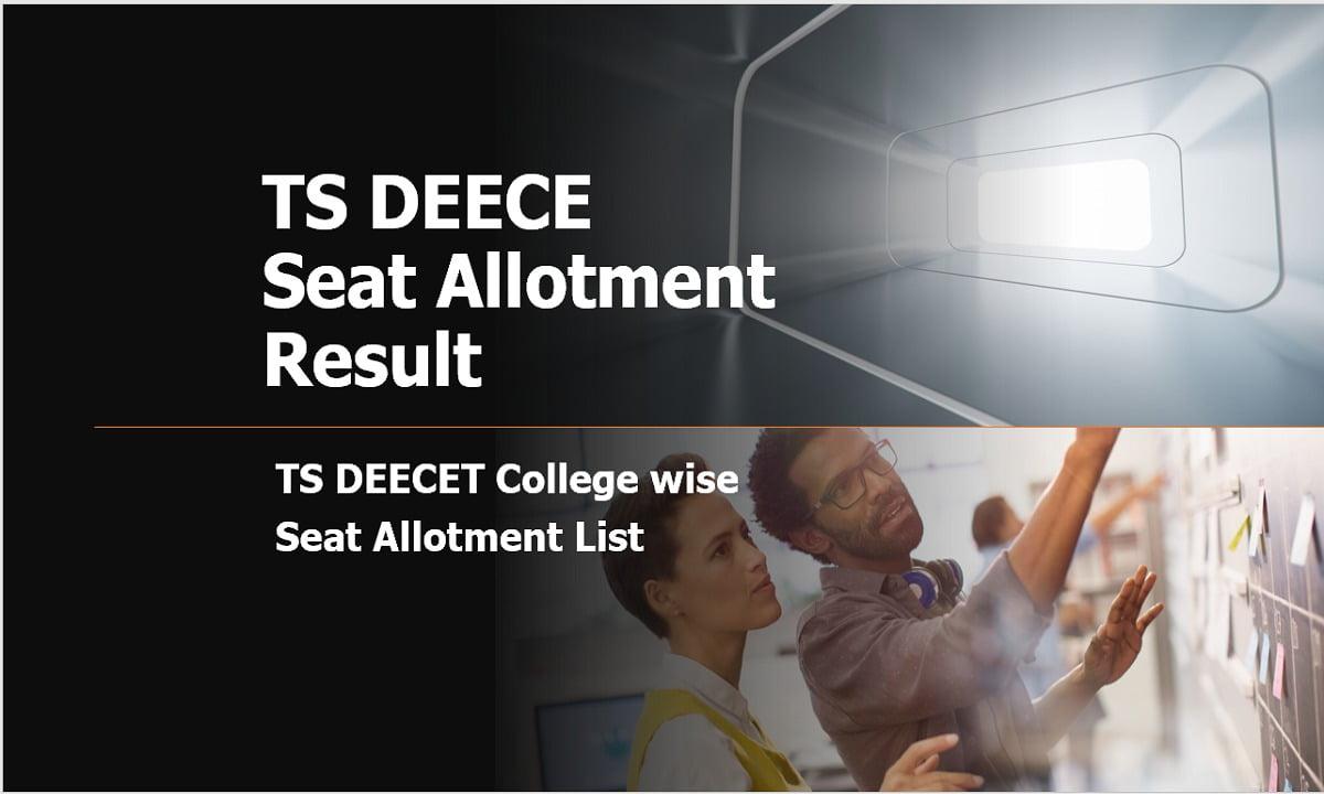 TS DEECET 2020 College wise Seat Allotment List, Final Seat Allotment