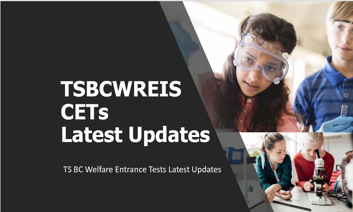 TSBCWREIS CETs 2021 Latest Updates (TS BC Welfare Entrance Tests Info)