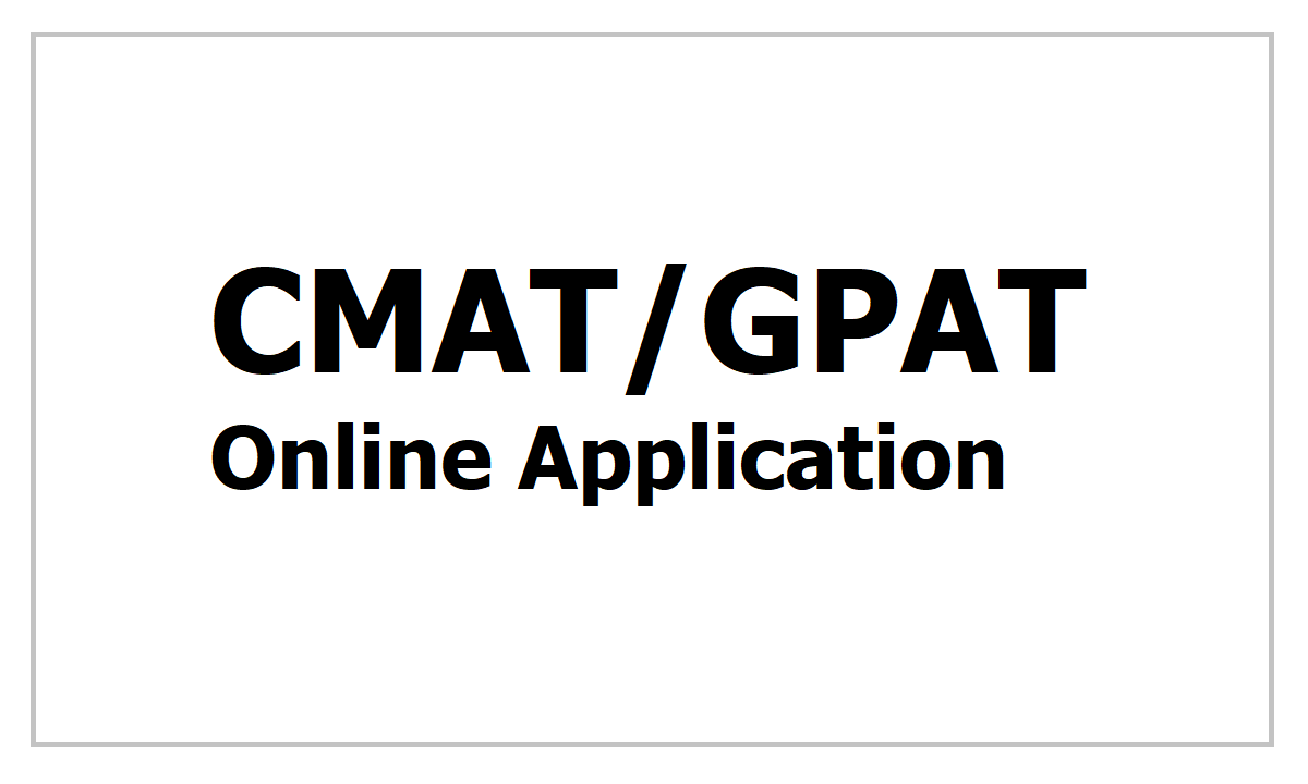 CMAT GPAT 2021 Submit Online Application Form
