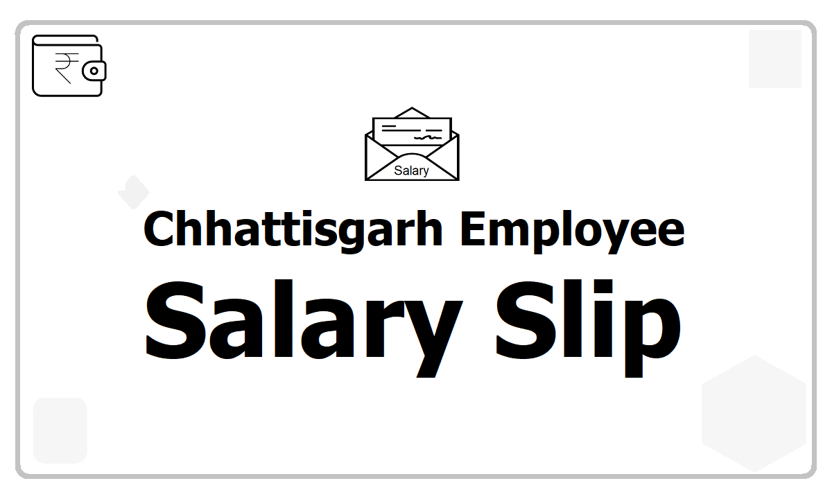 Chhattisgarh employee Salary Slip download from eKosh Payslip web portal