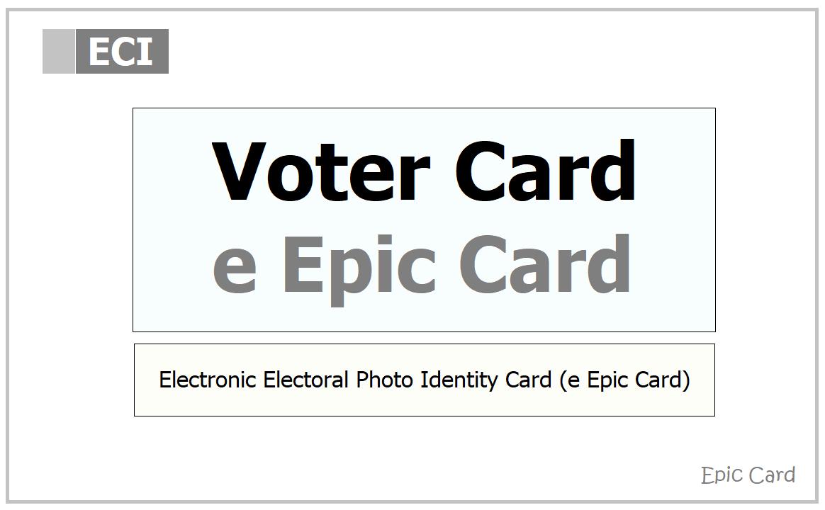 Digital Voter Card 2021 download from e Epic Card Website