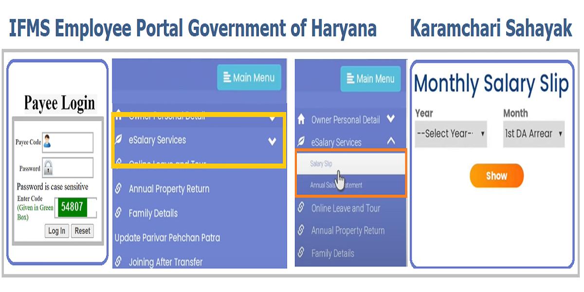 IFMS Haryana Employee Salary Slip Generate Web Application