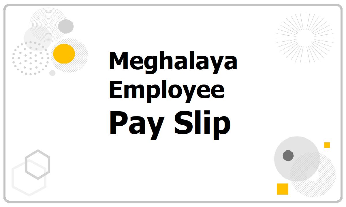 Meghalaya Employee Pay Slip 2021 download from Salary Slip Generate website
