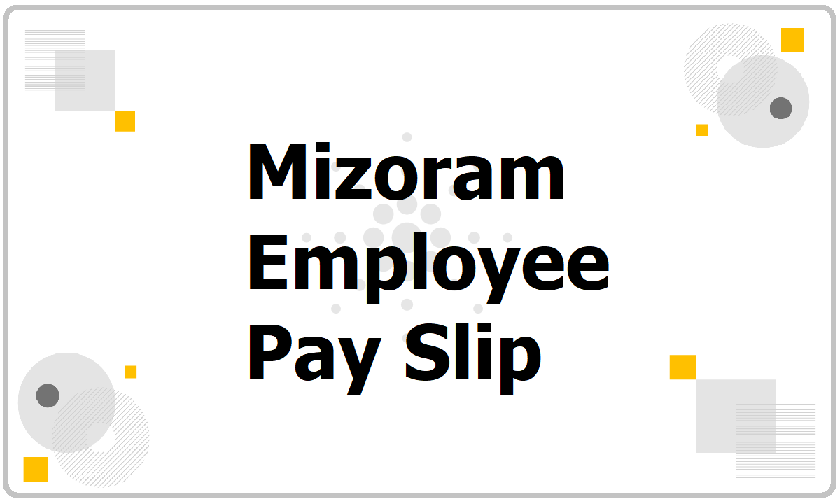 Mizoram Employee Pay Slip 2021 download from Salary Slip Generate website