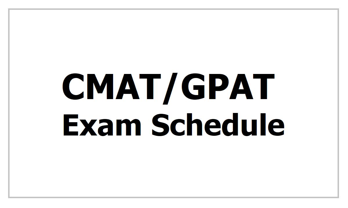 NTA CMAT/GPAT Exam Schedule 2021 Download