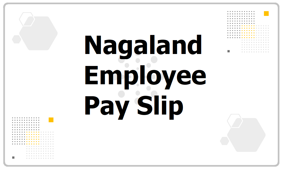 Nagaland Employee Pay Slip 2021 download Salary Slip Generate website