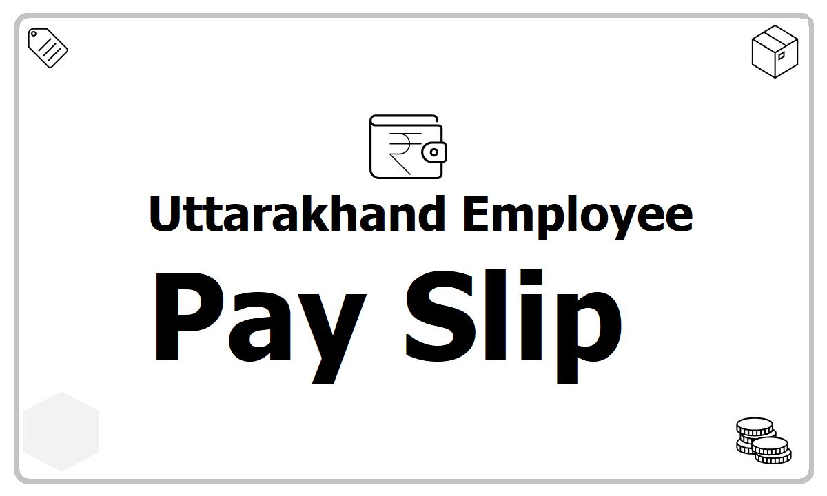 Uttarakhand Employee Pay Slip download from eKosh CFMS Salary Slip website