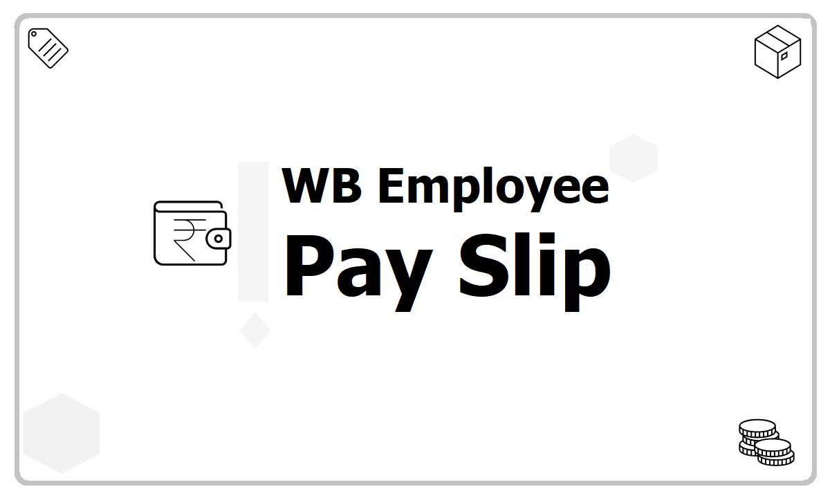 WB Employee Pay Slip download from eKosh Online CFMS Salary Slip website