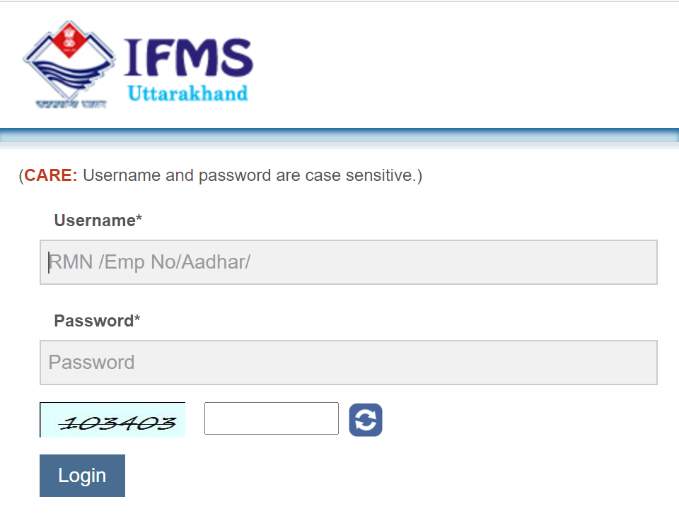 IFMS Uttarakhand Website