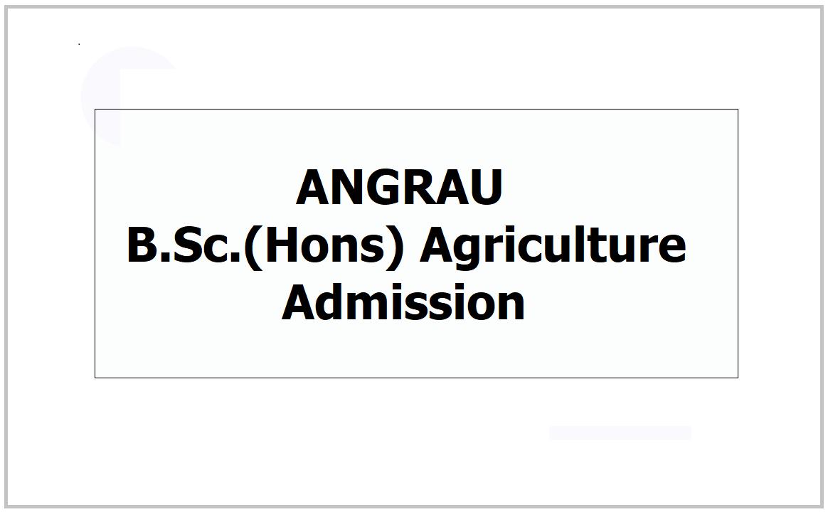 AP Agriculture UG Admission 2021