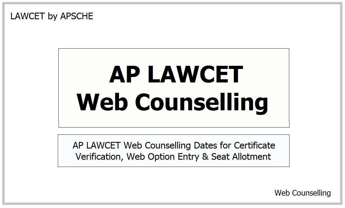 AP LAWCET Web Counselling 2021