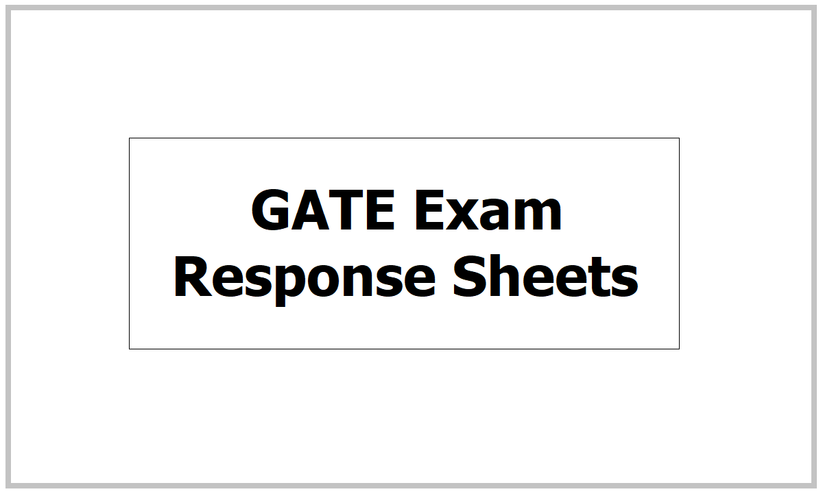 GATE Exam Response sheets 2021