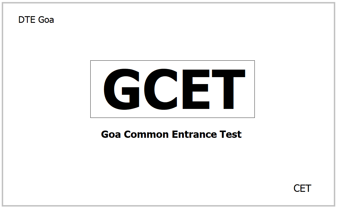 GCET 2021, Apply for Goa Common Entrance Test at dte.goa.gov.in
