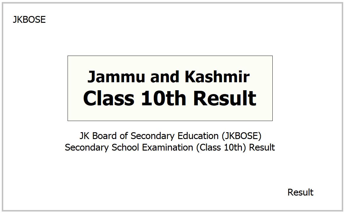 JKBOSE Class 10th Result 2021
