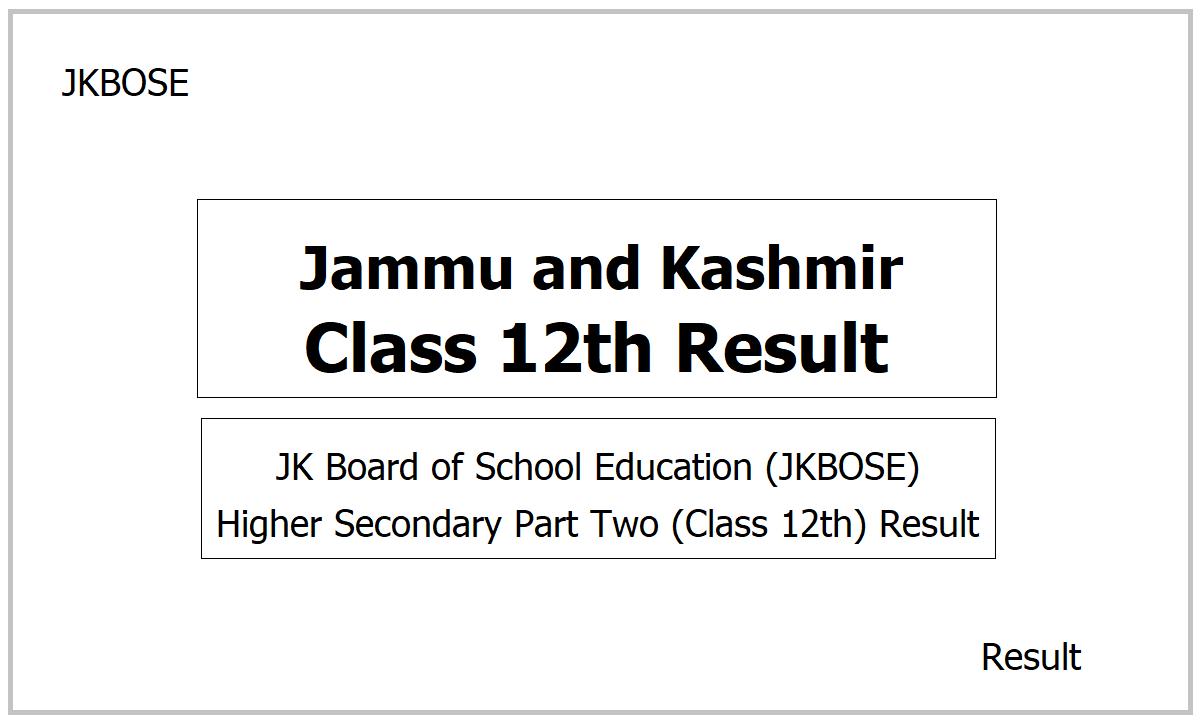 Jammu Class 12th Result 2021