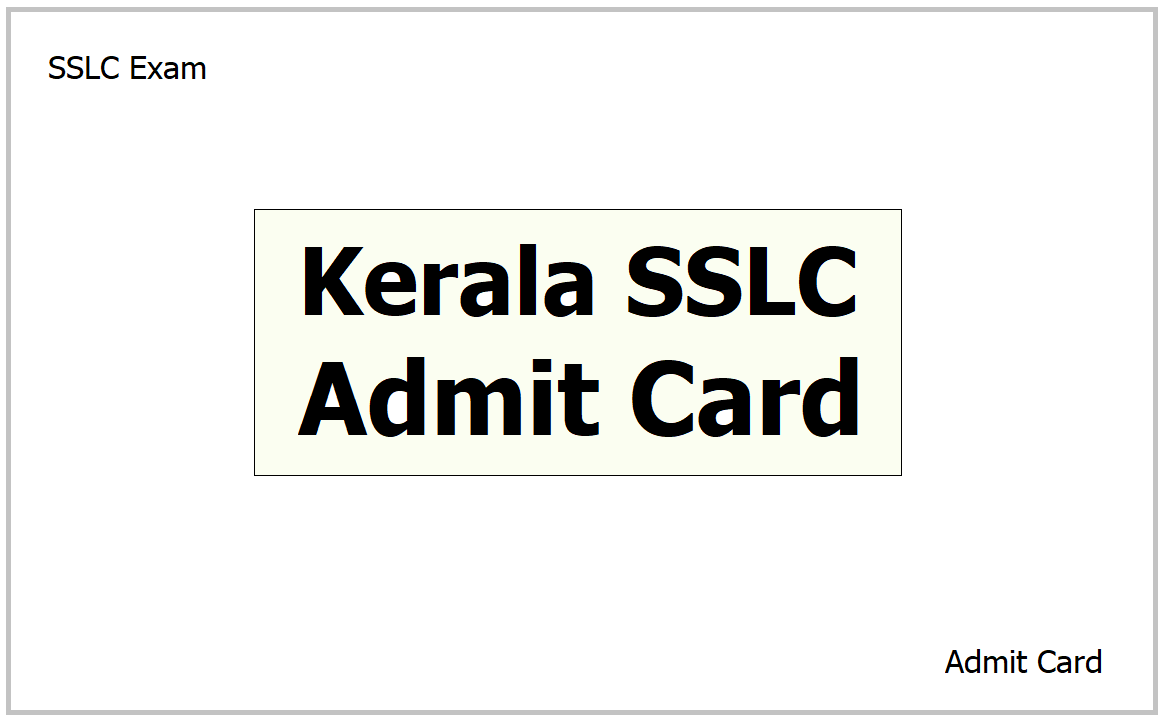 Kerala SSLC Admit Card 2021