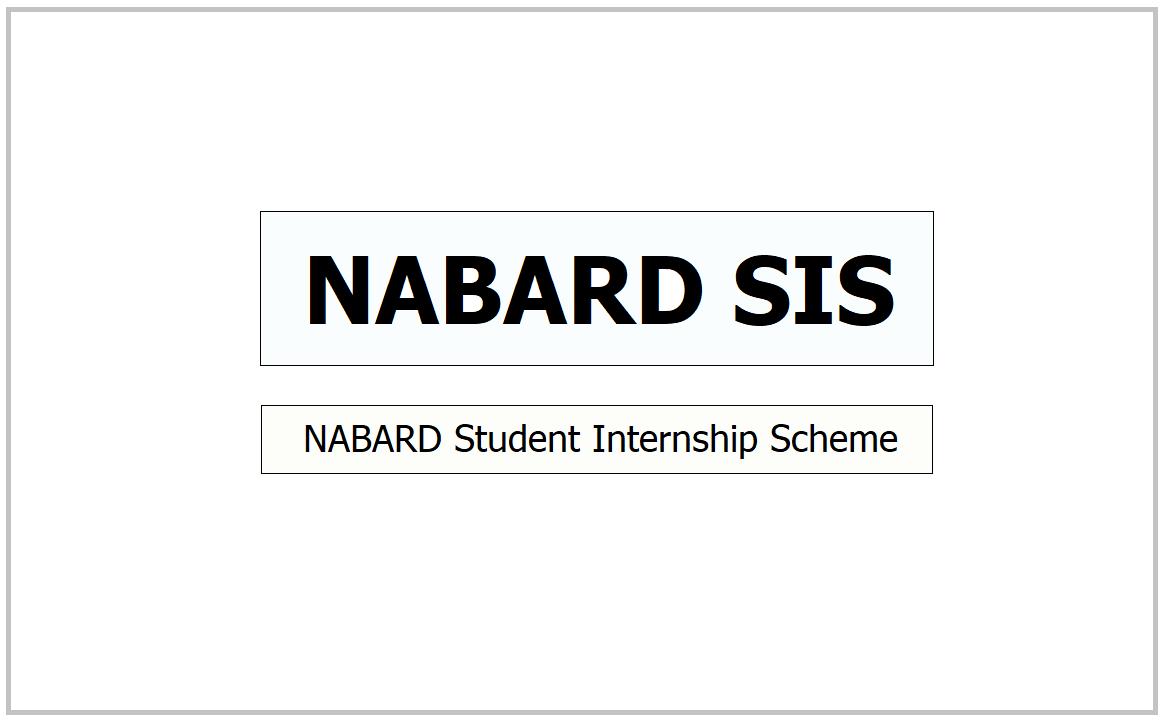 NABARD Student Internship Scheme 2021